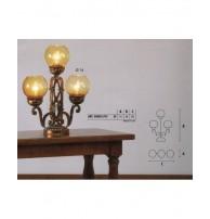 Настольная лампа Арт. 0580/C/01 Longobard (Италия)